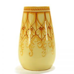 vaso in ceramica dipinto a mano terra di siena, ceramic vase handpainted burnt sienna color