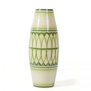 vaso verde in ceramica fatto a mano, handcrafted green vase in ceramic