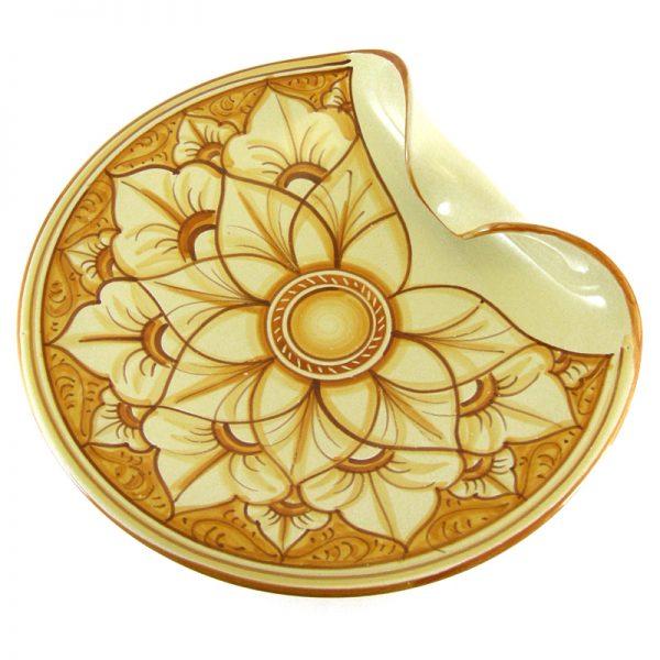 vassoio in ceramica dipinto a mano, handpainted ceramic tray